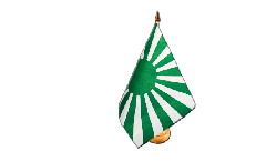Fan green white Table Flag - 5.9 x 8.65 inch