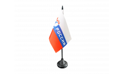Fan Russia Rossiya Table Flag - 3.95 x 5.9 inch