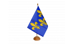 France Île-de-France coat of arms with lily Table Flag