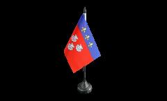 France Aurillac Table Flag - 3.95 x 5.9 inch