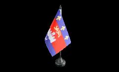 France Bordeaux Table Flag - 3.95 x 5.9 inch