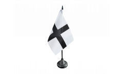 France Brittany Kroaz Du Black Cross Table Flag - 3.95 x 5.9 inch