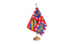 France Burgundy Table Flag