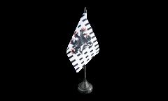 France Chablais Table Flag - 3.95 x 5.9 inch