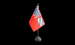 France Dijon Table Flag - 3.95 x 5.9 inch