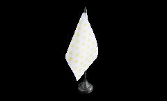 France Fleur-de-lis, white Table Flag - 3.95 x 5.9 inch