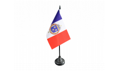France with royal crest Table Flag - 3.95 x 5.9 inch