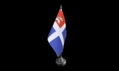 France Saint-Malo Table Flag - 3.95 x 5.9 inch