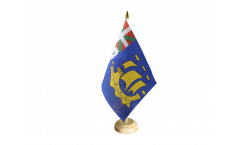 Saint Pierre and Miquelon Table Flag