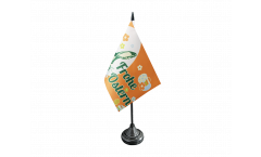 Frohe Ostern orange Easter Bunny Table Flag