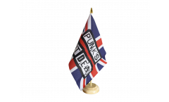 Great Britain Punks Not Dead Table Flag - 5.9 x 8.65 inch