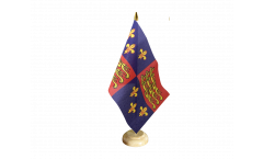 United Kingdom Royal Banner 1485-1547 Henry II and Henry IV Table Flag - 5.9 x 8.65 inch