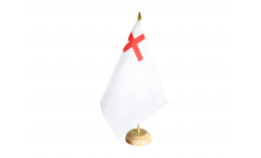 United Kingdom White Ensign 1630-1702 Table Flag - 5.9 x 8.65 inch