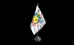 Happy Birthday 40 Table Flag - 3.95 x 5.9 inch
