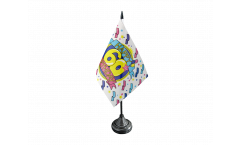 Happy Birthday 60 Table Flag - 3.95 x 5.9 inch