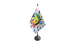 Happy Birthday 70 Table Flag - 3.95 x 5.9 inch