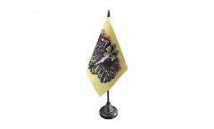 Holy Roman Empire Double-headed Eagle Table Flag - 3.95 x 5.9 inch