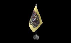 Holy Roman Empire Double-headed Eagle Table Flag - 3.95 x 5.9 inch