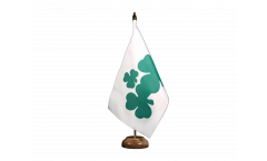 Ireland Shamrock Table Flag