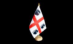 Italy Sardinia Table Flag
