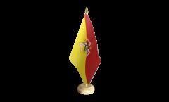 Italy Sicily Table Flag