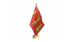 King Richard I of England 1189 Table Flag - 5.9 x 8.65 inch