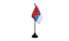 Kingdom of Serbia 1882-1918 Table Flag - 3.95 x 5.9 inch