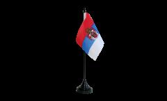 Kingdom of Serbia 1882-1918 Table Flag - 3.95 x 5.9 inch