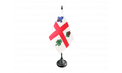 Canada Montreal Table Flag - 3.95 x 5.9 inch