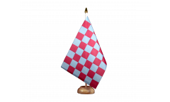 Checkered red blue Table Flag - 5.9 x 8.65 inch