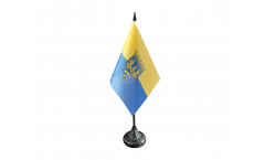 Upper Silesia Table Flag - 3.95 x 5.9 inch