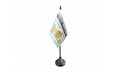 Oktoberfest Beer and Pretzel Table Flag - 3.95 x 5.9 inch