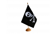 Pirate Skull and Bones Table Flag - 5.9 x 8.65 inch