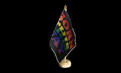 Rainbow Born This Way Table Flag - 5.9 x 8.65 inch