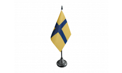 Sweden Östergötland Table Flag - 3.95 x 5.9 inch