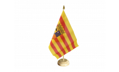 Spain Aragon Table Flag