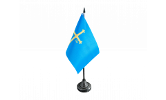 Spain Asturias Table Flag