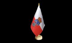 Spain Cantabria Table Flag