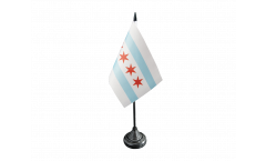 USA City of Chicago Table Flag - 3.95 x 5.9 inch