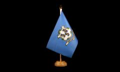 USA Connecticut Table Flag