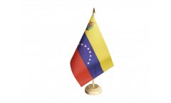 Venezuela 8 stars with coat of arms Table Flag