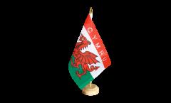 Wales CYMRU Table Flag - 5.9 x 8.65 inch