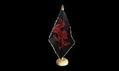 Welsh dragon black Table Flag - 5.9 x 8.65 inch