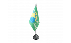 WC 2014 Copa do Mundo Brazil Soccer Table Flag - 3.95 x 5.9 inch