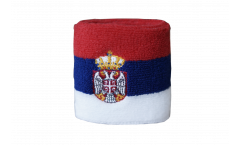 Schweißband Serbia with coat of arms - 7 x 8 cm