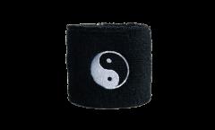 Schweißband Ying and Yang black - 7 x 8 cm